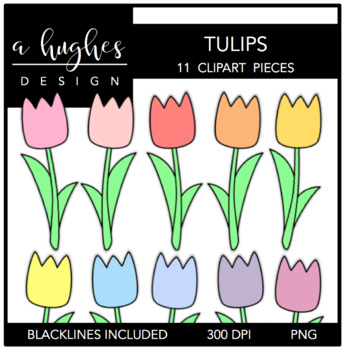 Tulips Clipart {A Hughes Design}