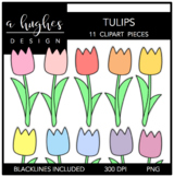 Tulips Clipart {A Hughes Design}