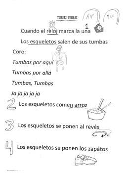 Tumbas Tumbas! Día de los muertos coloring sheet