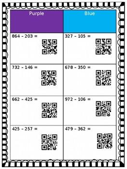 Tumble Block 3 Digit Subtraction