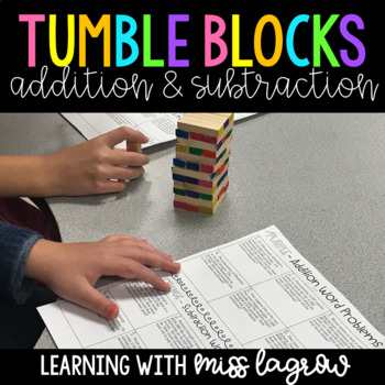 Tumble Blocks Addition and Subtraction Game