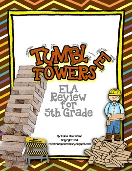 Tumble Towers - 5th Grade ELA CRCT Review Game