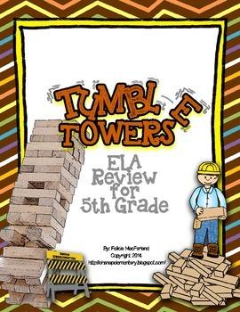 Tumble Towers - 5th Grade ELA Testing Review Game