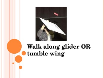 Tumblewing Walk along Glider Activity - physics project