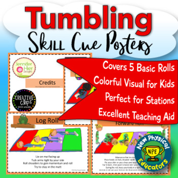 Tumbling and Gymnastics Basics Task Cards for Physical Education, Elementary