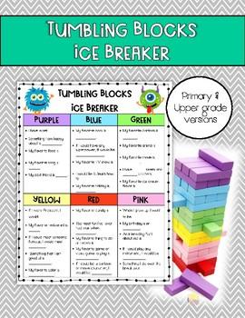 Tumbling Blocks (Jenga) Ice Breaker Activity