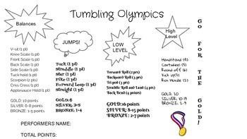 Tumbling Olympics P.E.