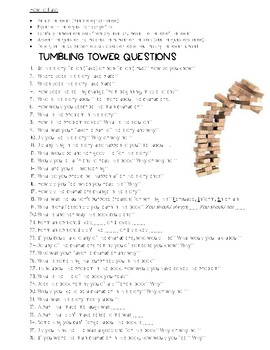 Tumbling Tower Comprehension Questions