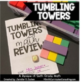 Tumbling Towers Sixth Grade Math Review Game