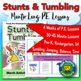 PreK Physical Education Tumbling and Stunts Unit