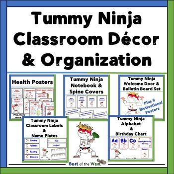 Tummy Ninja- Themed Classroom Decor