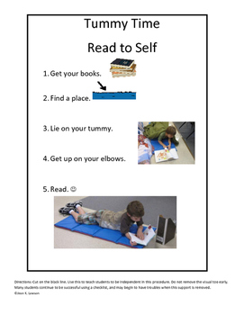 Tummy Time Read to Self: Build Motor Muscles