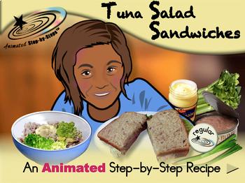Tuna Salad Sandwiches - Animated Step-by-Step Recipe - Regular