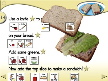 Tuna Salad Sandwiches - Animated Step-by-Step Recipe - SymbolStix