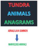 Tundra Animals Anagrams