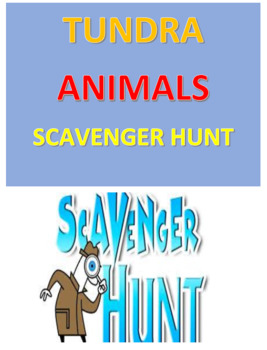 Tundra Animals Scavenger Hunt
