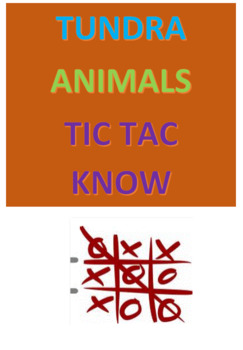 Tundra Animals Tic Tac Know