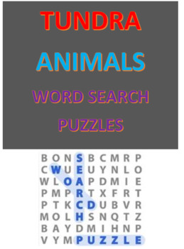 Tundra Animals Word Search Puzzles
