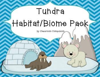 Tundra Biome Habitat Science Pack (Worksheets, Vocabulary,