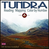 Tundra Biome Reading, Mapping and Color-by-Number for Distance Learning