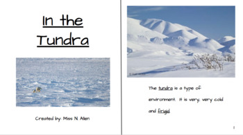 Tundra Biome Story, Vocabulary, and Assessment