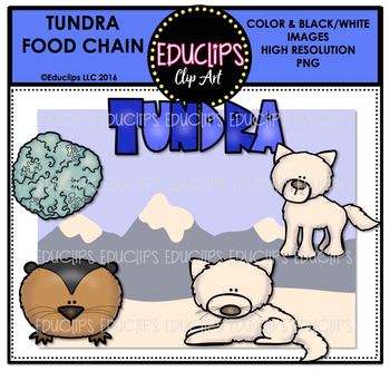 Tundra Food Chain Clip Art Mini Bundle {Educlips Clipart}