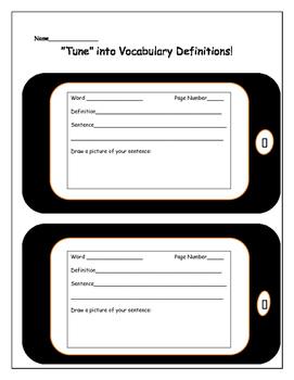 Tune into Vocabulary Definitions