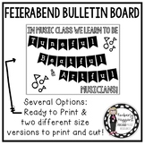 Tuneful, Beatful, & Artful Feierabend inspired bulletin board