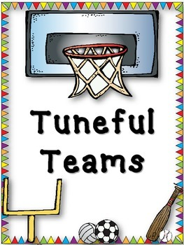Tuneful Teams - Sports Themed Music Ensemble Posters