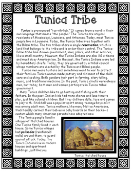 Tunica Native American Tribe of Louisiana Informational Article