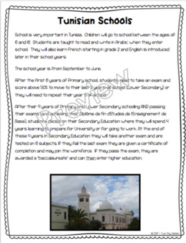 Tunisia ~ An integrated Social Studies, Language Arts and Research Unit