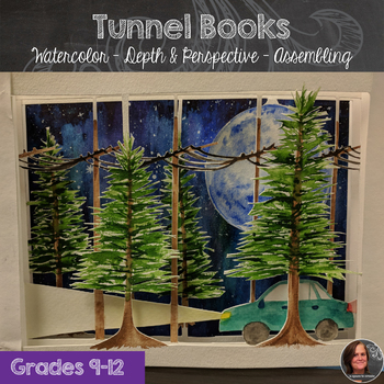 Tunnel Books - Watercolor & Ink - Depth & Perspective