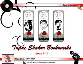 Tupac Shakur Bookmarks