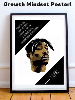 Tupac Shakur Hip Hop Rap Rapper Music Growth Mindset Poster Inspirational Quote