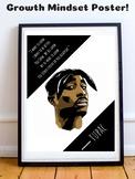 Tupac Shakur Hip Hop Rap Rapper Music Growth Mindset Poste
