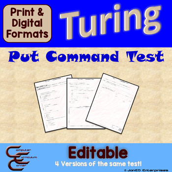 Turing 1 D Output Tests