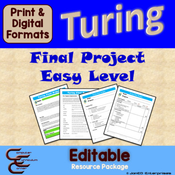 Turing 12 A Easy Final Culminating Activity Problems Package