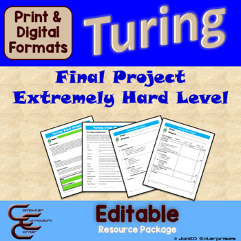 Turing 12 D Extremely Hard Final Culminating Activity Problems Package