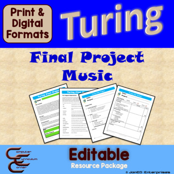 Turing 12 E Music Final Culminating Activity Problems Package