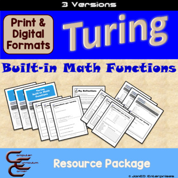 Turing 5 B Built-in Math Functions 3 Version Package