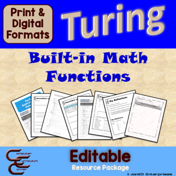 Turing 5 B Built-in Math Functions