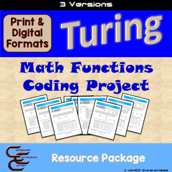 Turing 5 C Math Functions Culminating Activity 3 Version Package