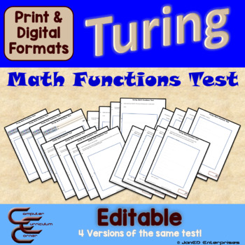 Turing 5 D Math Functions Test