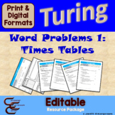Turing 6 A Times Table Problem Package