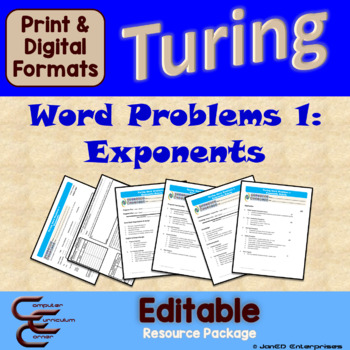Turing 6 B Exponent Problems Package