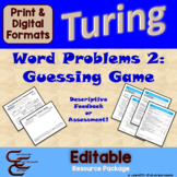 Turing 8A Guessing Game 4 ⇨EDITABLE⇦ Resource Package