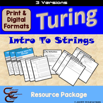 Turing 9 A Intro to Strings 3 Version Package