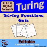 Turing 9 C String Quiz