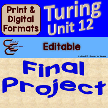 Turing Unit 12 Final Culminating Activity