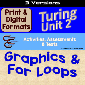 Turing Unit 2 Drawing & For Loops 3 Versions